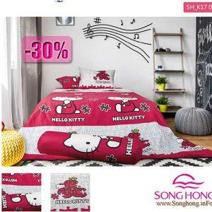 Chăn ga gối Hello Kitty mã K17-038