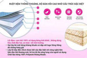 Đệm Sông Hồng 2 tấm chần gấm – Bảng giá khuyến mại