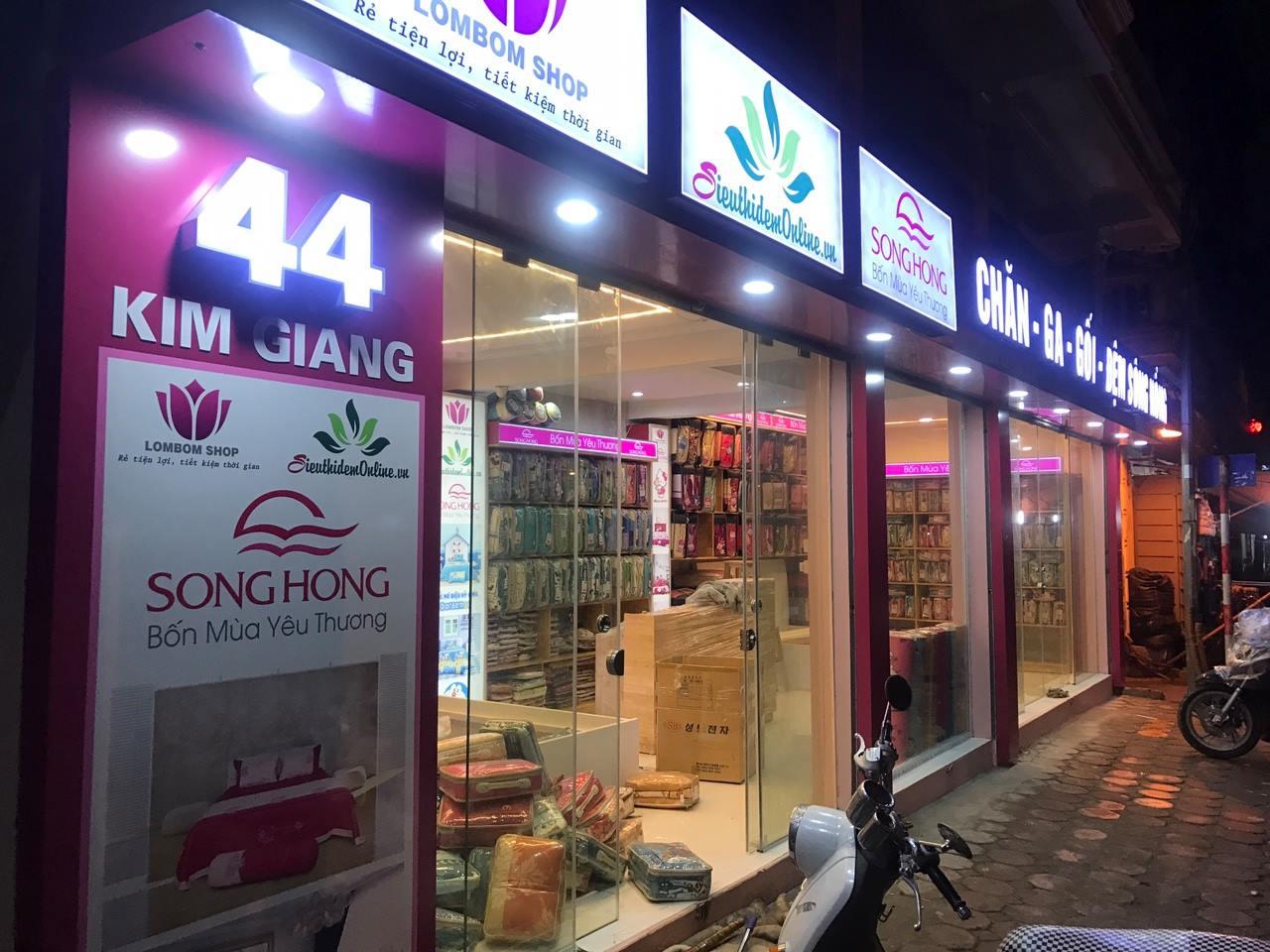 Showroom chăn ga gối đệm Sông Hồng số 44 đường Kim Giang, Thanh Xuân, Hà Nội