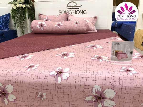 Mẫu chăn ga gối Sông Hồng mã C19 C66 vải cotton chất lượng cao
