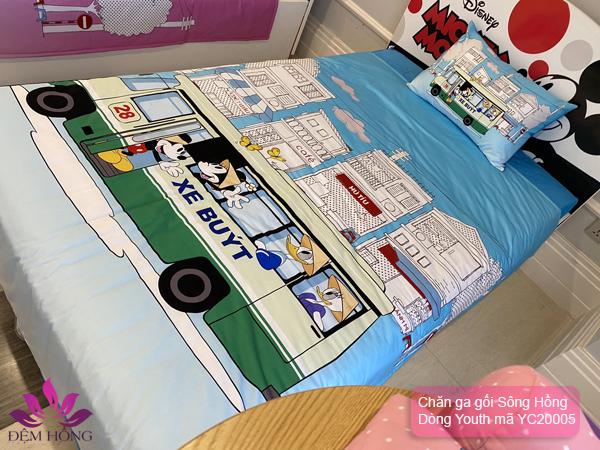 Bộ chăn ga gối Sông Hồng chất lượng cao dành cho bé