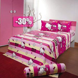 Chăn ga gối Hello Kitty mã mầu K15028