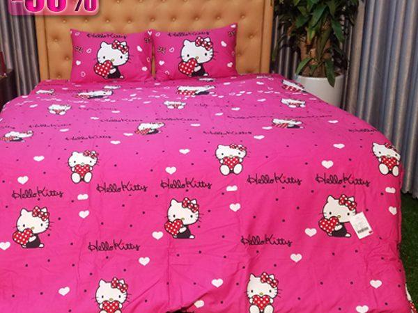 Chăn ga gối Hello Kitty mã K15-029