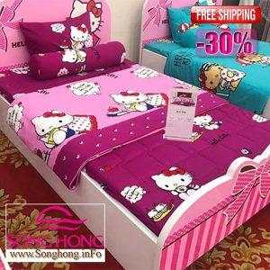 Chăn ga gối Hello Kitty mã K17-039