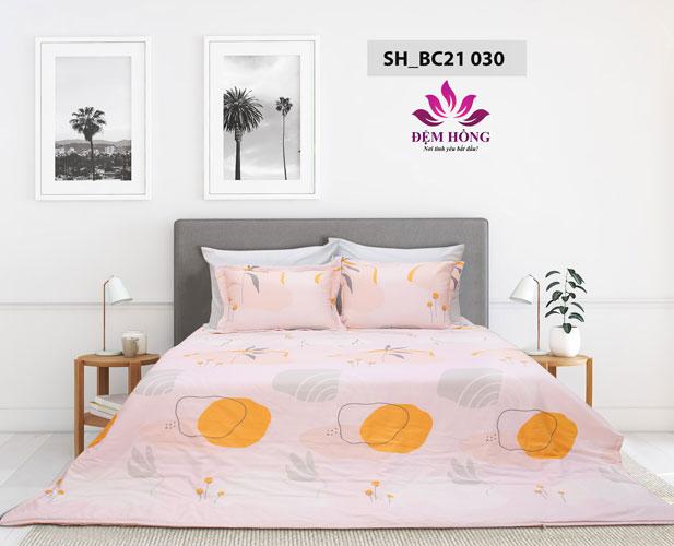 Bộ chăn ga gối Sông Hồng 100% cotton mã mầu BC21-030