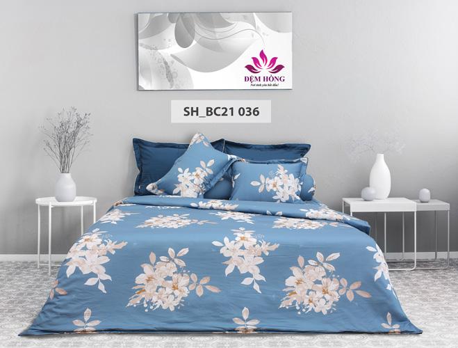 Mẫu chăn ga gối Sông Hồng mã mầu BC21-036 cotton 100%